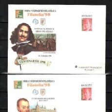 Sellos: ESPAÑA S.E.P. 50/1 NUEVO, FERIA Y EXPOSICION FILATELICA FILATELIA 98, MADRID. Lote 176280628