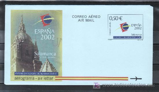 ESPAÑA AEROGRAMA 225 NUEVO, EXPOSICION MUNDIAL DE FILATELIA JUVENIL, (Sellos - España - Entero Postales)