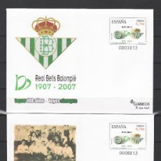 Sellos: ESPAÑA S.E.P. 116/7 NUEVO, DEPORTE, EXPOSICION CENTENARIO DEL REAL BETIS, SEVILLA. Lote 115365323