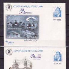 Sellos: ESPAÑA S.E.P. 92 (2 TIPOS) NUEVO, EXPOSICION MUNDIAL DE FILATELIA ESPAÑA 2004, VALENCIA. Lote 176280609