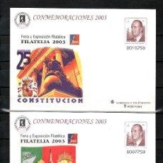 Sellos: ESPAÑA S.E.P. 89 (2 TIPOS) NUEVO, CONSTITUCION, 150º ANVº SELLO PORTUGUES, FILATELIA 2003. Lote 29535763