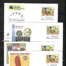 Sellos: ESPAÑA S.E.P. 77 NUEVO, ADIOS PESETA, ROTARY, 10º ANIVERSARIO OLIMPIADA BARCELONA, I.F.S.D.A.. Lote 28600511