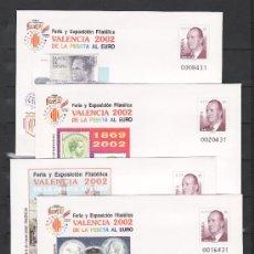 Sellos: ESPAÑA S.E.P. 75 (4 TIPOS) NUEVO, FERIA Y EXPOSICION FILATELICA VALENCIA 2002. Lote 16270002