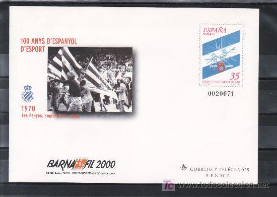 ESPAÑA S.E.P. 59 NUEVO, DEPORTE, FUTBOL, CENTENARIO DEL R.C.D. ESPAÑOL, BARNAFIL 2000 (Sellos - España - Entero Postales)