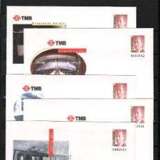 Sellos: ESPAÑA S.E.P. 53 (4 TIPOS) NUEVO, TMB, FF.CC., METRO, BARNAFIL 99. Lote 52527578