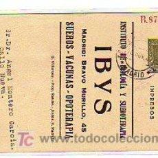 Sellos: ENTERO POSTAL PRIVADO. IBYS. INSTITUTO DE BIOLOGÍA Y SUEROTERAPIA. GRANADA. FACULTAD DE MEDICINA 20 . Lote 25043677