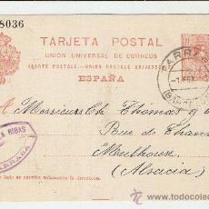 Sellos: ENTERO POSTAL TARRASA - ALSACIA 1912. Lote 26629375