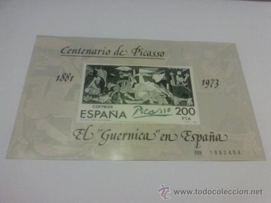 HOJA CENTENARIO DE PICASSO (Sellos - España - Entero Postales)