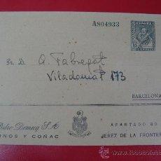 Sellos: SOBRE ENTERO POSTAL PRIVADO CON PUBLICIDAD DE PEDRO DOMECQ. S.A. VINOS Y COÑAC. Lote 16340739