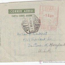 Sellos: AEROGRAMA (EDIFIL 64) CIRCULADO 1958 DE MALAGA A BALTIMORE (USA). CATALOGO MAS DE 90 EUROS. MPM.. Lote 22879736