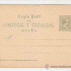 Sellos: 1890 TARJETA POSTAL PARA PORTUGAL Y GIBRALTAR 5 C. VERDE . Lote 27014025