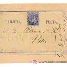 Sellos: ENTERO POSTAL. CIRCULADO EN 1875 DE MAHÓN (MENORCA) A BARCELONA. MATASELLOS MAHÓN (MENORCA). . Lote 18961820