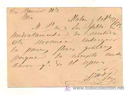 Sellos: ENTERO POSTAL. CIRCULADO EN 1875 DE MAHÓN (MENORCA) A BARCELONA. MATASELLOS MAHÓN (MENORCA). - Foto 2 - 18961820