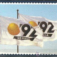 Sellos: ENTERO POSTAL BANDERA EXPO 92. EXPOSICION FILATELICA RUMBO AL 92 SERIE A. SEVILLA. Lote 17936781