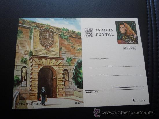 TARJETA ENTERO POSTAL,PUERTA DE LAS TABLAS,IBIZA,1978. (Sellos - España - Entero Postales)