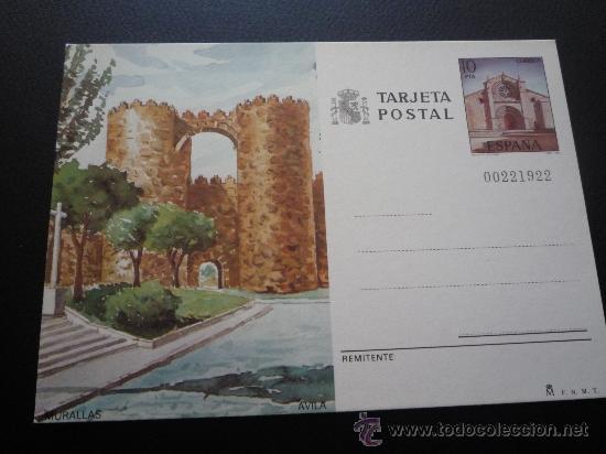 TARJETA ENTERO POSTAL,MURALLAS,AVILA.1983. (Sellos - España - Entero Postales)