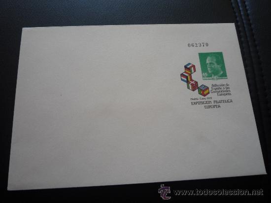 SOBRE ENTERO POSTAL,EXPOSICION FILATELICA EUROPEA.1986. (Sellos - España - Entero Postales)