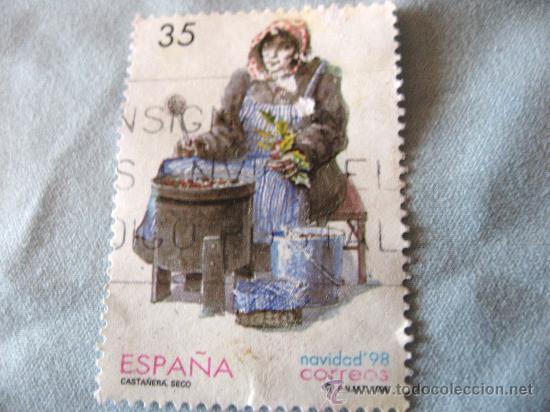 SELLO -ESPAÑA- CASTAÑERA SECO NAVIDAD 1998 USADO (Sellos - España - Entero Postales)