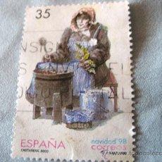 Sellos: SELLO -ESPAÑA- CASTAÑERA SECO NAVIDAD 1998 USADO. Lote 20646969