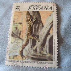 Sellos: SELLO -ESPAÑA- FAUNA ESPAÑOLA EN PELIGRO DE EXTINCIÓN -LAGARTO GIGANTE DEL HIERRO 1999 USADO. Lote 20647124