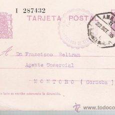 Sellos: ENTERO POSTAL DE CALLOSA DE SEGURA A MONTORO. (15 CTS.REPÚBLICA) 22 - OCTUBRE - 1935.. Lote 21322849