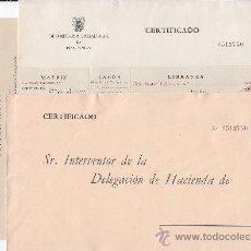 Sellos: GENERAL FRANCO Y CASTILLO DE LA MOTA (EDIFIL 6/7) DOS RAROS SOBRES NUEVOS ADMINISTRACION PUBLICA MPM. Lote 22907766