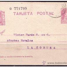 Sellos - ENTERO POSTAL 1932 Matrona, Catálogo Ángel LAIZ nº 69 (o) - 23466637