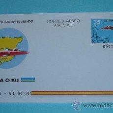 Sellos: ENTERO POSTAL . AEROGRAMA ( EDIFIL 206 ). AVIÓN CASA C-101. Lote 24409204