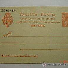 Sellos: ENTERO POSTAL 10 CTMOS ALFONSO XIII SIN CIRCULAR AÑOS 1910-20. Lote 26494751
