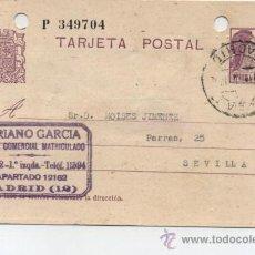 Sellos: TARJETA ENTERO POSTAL. DE MADRID A SEVILLA. DE 26 DE MAYO DE 1936.. Lote 27999886