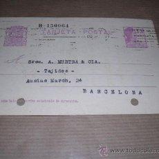 Sellos: SALAMANCA TAMPON GONZALEZ MARTIN CIRCULADA 1932 A BARCELONA 14X9 CM.MARCA DE DOS TALADROS.. Lote 30164384