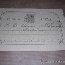 Sellos: ENTERO POSTAL ZARAGOZA 1875 MARIANO VAL - BARCELONA 15X10 CM.. Lote 30177571