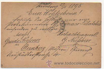 Sellos: 4 ENTEROS POSTALES ENVIADOS A TARRACO FILATELICO, RICARDO BESSES. 1895. - Foto 6 - 30790072
