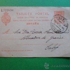 Sellos: TARJETA POSTAL UNIÓN UNIVERSAL DE CORREOS - ESPAÑA - 29 ENERO 1920. Lote 30357423
