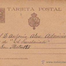 Sellos: TARJETA ENTERO POSTAL Nº 27. DE PASAJES A BARCELONA. FECHADO 9 - 12 - 1900.. Lote 30983303