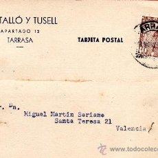 Sellos: TARJETA POSTAL VENTALLO Y TUSELL TARRASA. Lote 33499885