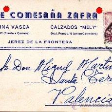 Sellos: TARJETA POSTAL JOSE COMESAÑA ZAFRA JEREZ DE LA FRONTERA . Lote 33499964