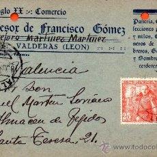 Sellos: TARJETA POSTAL EL SIGLO XX SUCESOR DE FRANCISCO GOMEZ VALDERAS. Lote 33500036