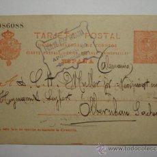 Sellos: ENTERO POSTAL ALFONSO XIII 10 CENTIMOS AÑO 1910 MADRID ALEMANIA. Lote 34032743
