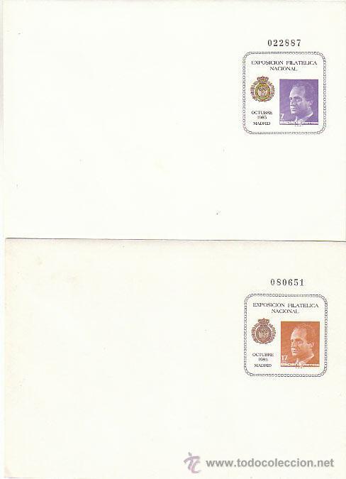 SOBRE ENTERO POSTAL EDIFIL 1/2, EXFILNA 85 (Sellos - España - Entero Postales)