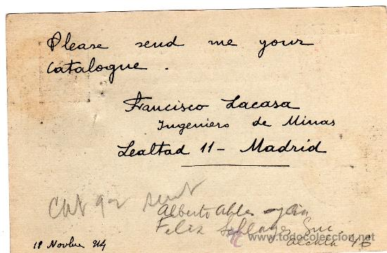 Sellos: ENTERO POSTAL ALFONSO XIII (TIPO MEDALLÓN) SANTA ELENA (JAEN) A ESTADOS UNIDOS, AÑO 1914 - Foto 2 - 34485566