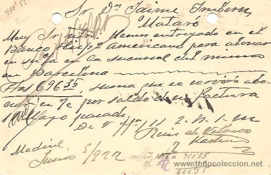 Sellos: ENTERO POSTAL ALFONSO XIII AÑO 1910 - 15 CÉNTIMOS VIOLETA - CIRCULADA - Foto 2 - 34876993