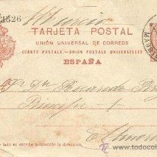 Sellos: ENTERO POSTAL ALFONSO XIII AÑO 1910 - 10 CÉNTIMOS ROJO NARANJA - CIRCULADA. Lote 34880285
