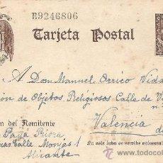 Sellos: ENTERO POSTAL FRANCO AÑO 1940 - 20 CÉNTIMOS CASTAÑO - CIRCULADA. Lote 205762618
