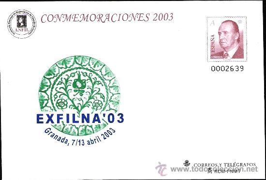 ESPAÑA S.E.P. Nº 84 NUEVO, EXPOSICION FILATELICA NACIONAL EXFILNA 2003, GRANADA RARO. (Sellos - España - Entero Postales)