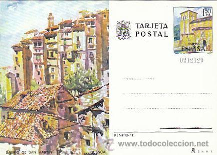 ENTERO POSTAL EDIFIL 111, CUENCA: BARRIO DE SAN MARTIN E IGLESIA DE SAN MIGUEL (Sellos - España - Entero Postales)