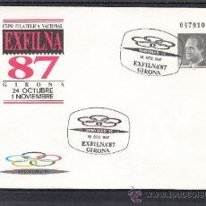 Sellos: ESPAÑA S.E.P. 10 MATº CONMEMORATIVO BANYOLES 92, EXP. FIL. EXFILNA 87, GERONA 26/10/1987. Lote 37431685