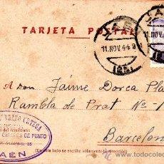 Sellos: TARJETA POSTAL AMADOR SERRANO ORTEGA PERFUMERIA CAMISERIA Y GENEROS DE PUNTO JAEN SELLO . Lote 38253197