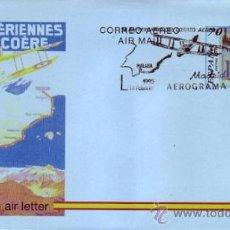 Sellos: ESPAÑA AEROGRAMA 220 - ANIV. CORREO AÉREO 1995. MAT. PDC PRIMER DIA CIRCULACIÓN.. Lote 296033678