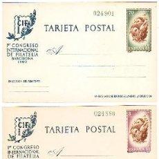 Sellos: ESPAÑA ENTERO POSTAL 88 / 89 - CIF 1960 NUEVO. CAT.104€.. Lote 38646698